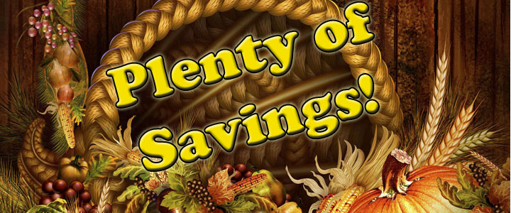 Plenty of Savings!
